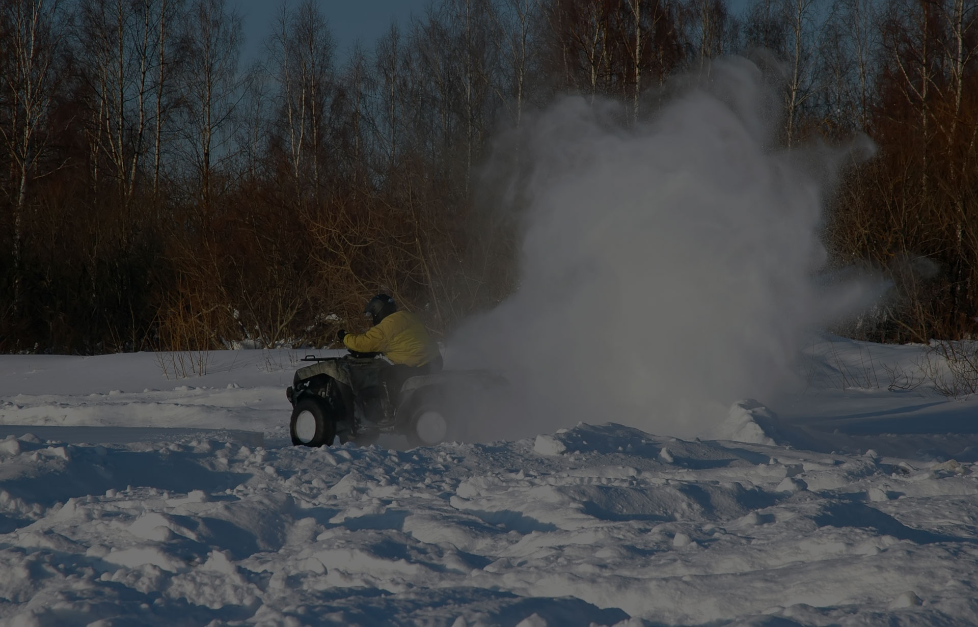 Atv bike on snow